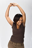 Giovane donna di colore felice fotografia stock
