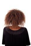 Giovane donna di colore veduta da dietro immagine stock libera da diritti