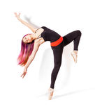 Giovane donna di dancing fotografie stock libere da diritti