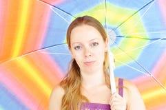 Giovane donna di estate Fotografia Stock
