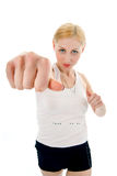 Giovane donna di forma fisica Fotografia Stock Libera da Diritti
