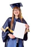 Giovane donna di graduazione Immagini Stock