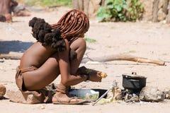 Giovane donna di Himba Fotografie Stock Libere da Diritti