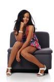 Giovane donna di modo dell'afroamericano Immagini Stock