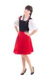 Giovane donna in dirndl bavarese tipico del vestito Fotografie Stock Libere da Diritti