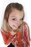 Giovane donna divertente sorridente fotografia stock