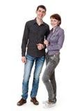Giovane donna ed uomo. Fotografia Stock