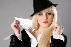 Giovane donna elegante di affari Fotografia Stock