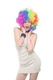 Giovane donna emozionante Fotografie Stock