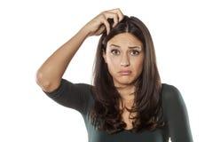 Giovane donna fatta sussultare Fotografia Stock Libera da Diritti