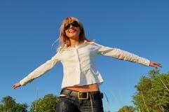 Giovane donna felice Fotografie Stock Libere da Diritti