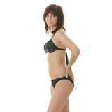 Giovane donna felice in bikini Fotografia Stock