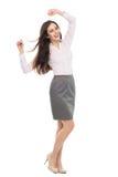 Giovane donna felice con le armi alzate Fotografia Stock