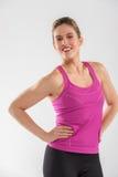 Giovane donna felice di forma fisica Fotografie Stock Libere da Diritti