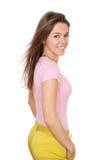 Giovane donna felice in variopinto fotografia stock
