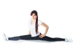 Giovane donna femminile attraente di forma fisica che esegue una cordicella Fotografia Stock Libera da Diritti
