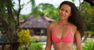 Giovane donna filippina che sorride alla macchina fotografica Fotografia Stock Libera da Diritti