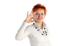 Giovane donna fortunata felice Fotografia Stock