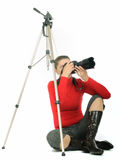 Giovane donna - fotografo fotografie stock