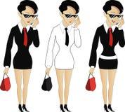Giovane donna fredda in costume Immagine Stock
