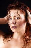 Giovane donna fresca e bagnata Fotografie Stock