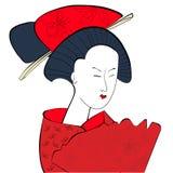 Giovane donna giapponese illustrazione vettoriale