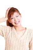 Giovane donna giapponese colpita Immagini Stock Libere da Diritti