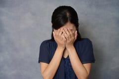 Giovane donna gridante Immagine Stock Libera da Diritti