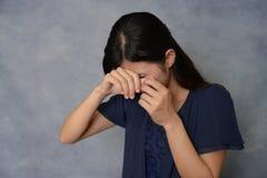 Giovane donna gridante Fotografia Stock