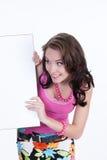 Giovane donna impressionabile fotografia stock