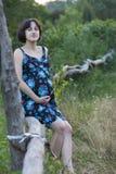 Giovane donna incinta Fotografie Stock
