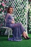 Giovane donna incinta fotografie stock libere da diritti