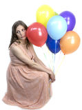 Giovane donna incinta Fotografia Stock