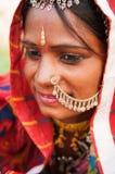 Giovane donna indiana tradizionale Fotografie Stock Libere da Diritti