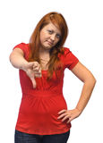 Giovane donna insoddisfatta Immagine Stock