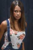 Giovane donna intensa Immagine Stock