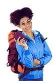 Giovane donna le che mostra passeport Immagine Stock Libera da Diritti