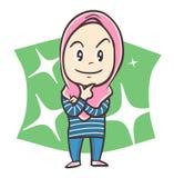 Giovane donna musulmana sveglia Immagini Stock