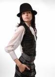 Giovane donna nel cappello Immagine Stock