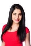 Giovane donna nel colore rosso Fotografia Stock Libera da Diritti