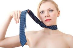 Giovane donna nel legame. Fotografia Stock Libera da Diritti