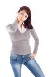 Giovane donna nella posa Relaxed Fotografie Stock Libere da Diritti
