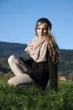 Giovane donna nello stile francese Immagini Stock Libere da Diritti