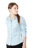 Giovane donna o allievo di affari Fotografia Stock