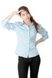 Giovane donna o allievo di affari Immagine Stock