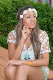 Giovane donna Pensive Fotografie Stock Libere da Diritti