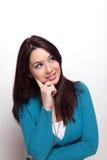 Giovane donna pensive creativa Fotografie Stock Libere da Diritti
