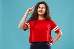 Giovane donna premurosa seria di affari Concetto di dubbio immagini stock