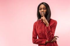 Giovane donna premurosa seria di affari Concetto di dubbio fotografie stock libere da diritti