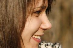 Giovane donna, primo piano e profilo Immagini Stock Libere da Diritti